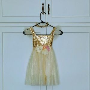 Other - Handmade gold sequence dress